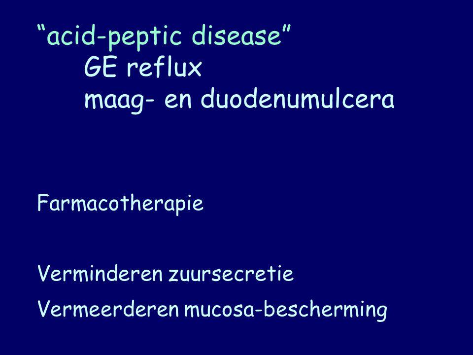 acid-peptic disease GE reflux maag- en duodenumulcera