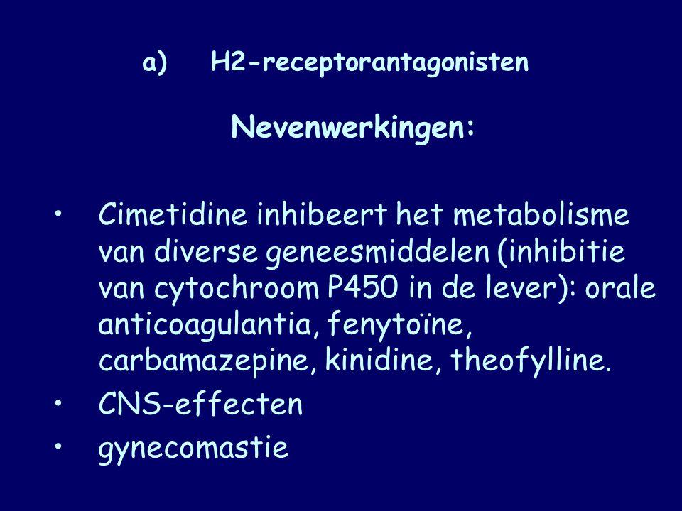 a) H2-receptorantagonisten