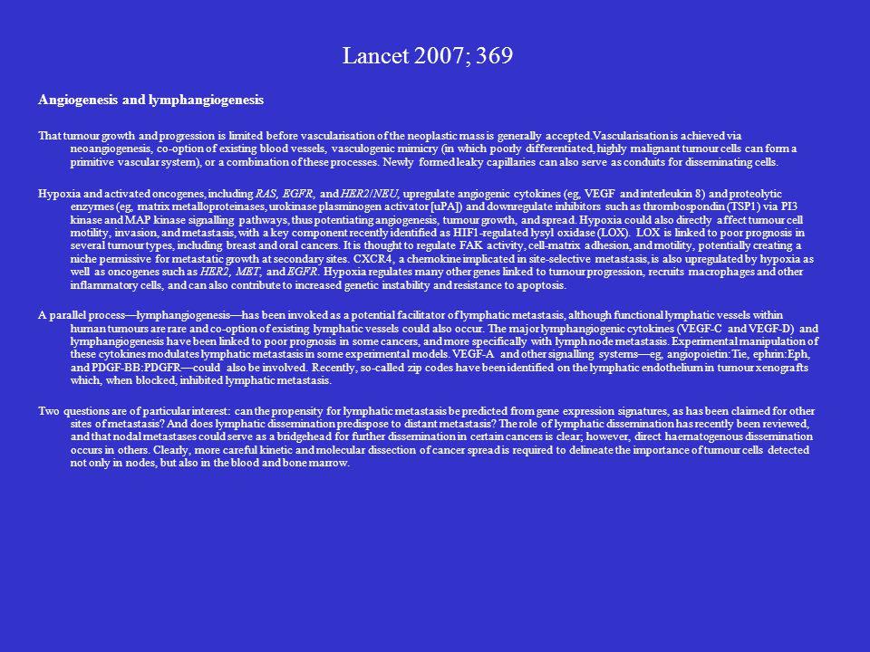 Lancet 2007; 369 Angiogenesis and lymphangiogenesis