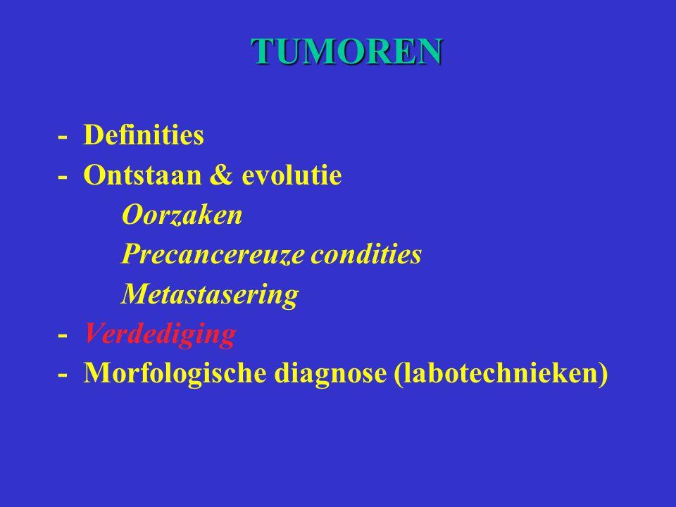 TUMOREN - Definities - Ontstaan & evolutie Oorzaken