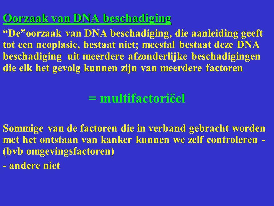 = multifactoriëel Oorzaak van DNA beschadiging