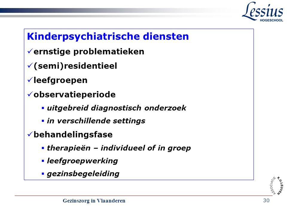 Kinderpsychiatrische diensten
