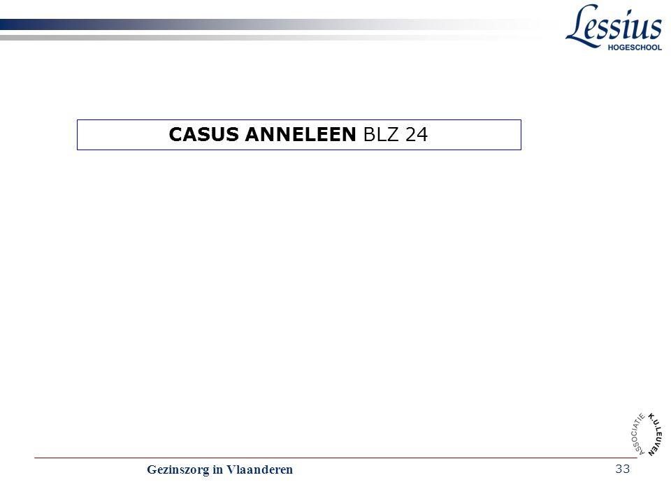 CASUS ANNELEEN BLZ 24 Gezinszorg in Vlaanderen