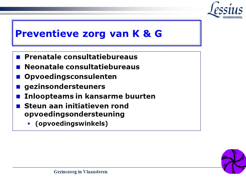 Preventieve zorg van K & G