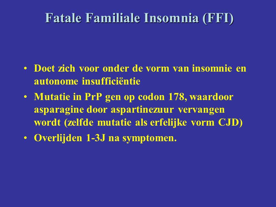 Fatale Familiale Insomnia (FFI)