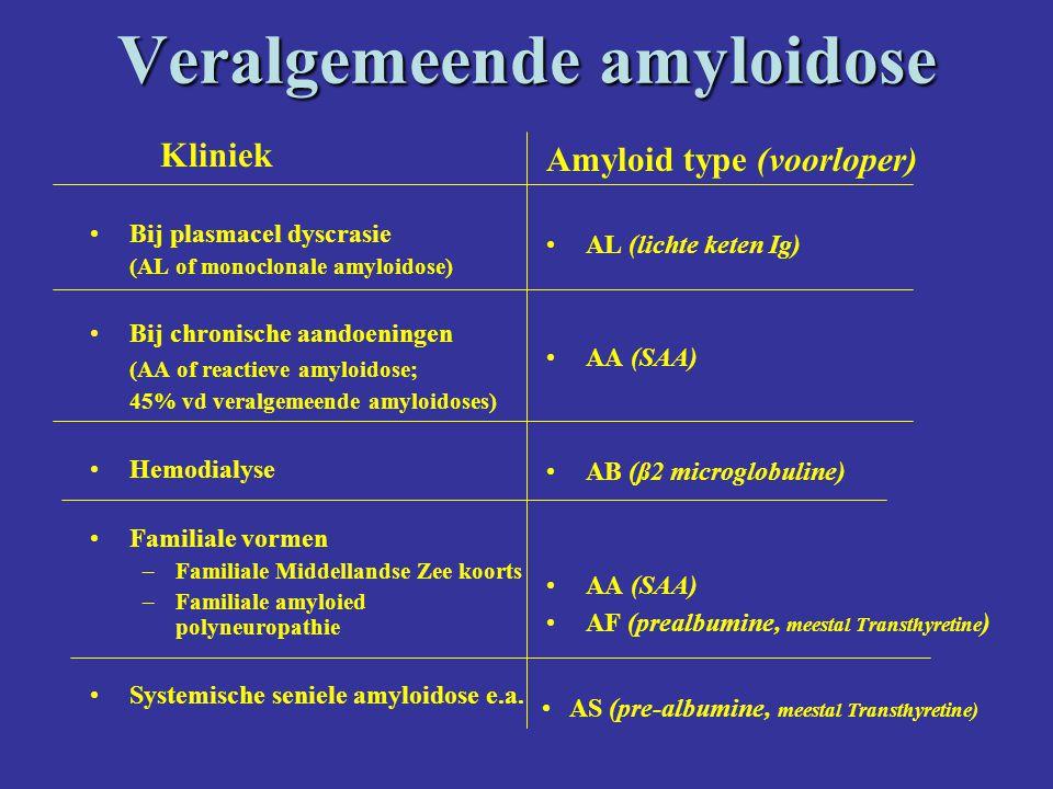 Veralgemeende amyloidose