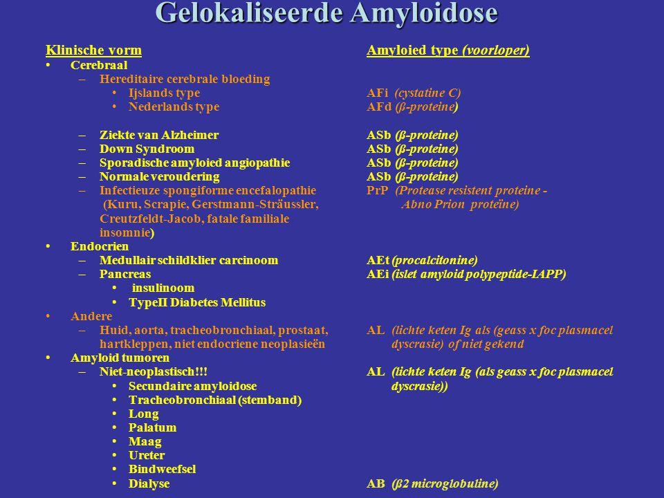 Gelokaliseerde Amyloidose