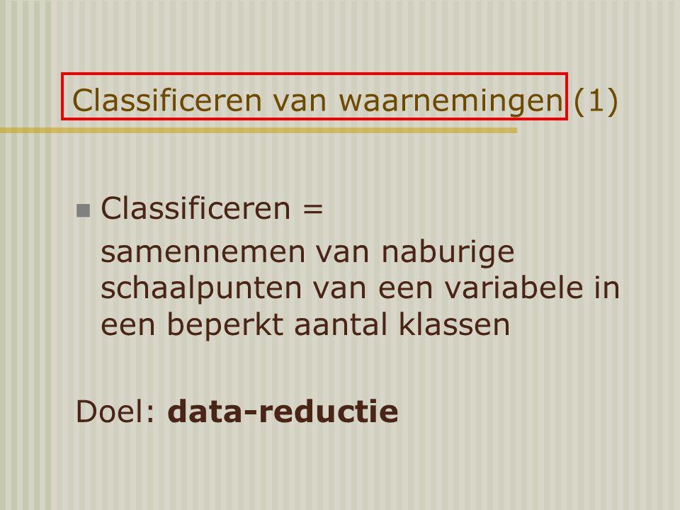 Classificeren van waarnemingen (1)