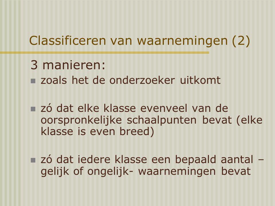 Classificeren van waarnemingen (2)