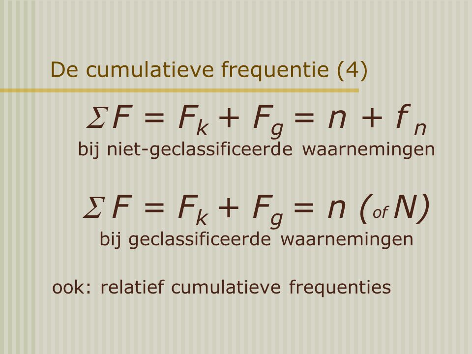 De cumulatieve frequentie (4)