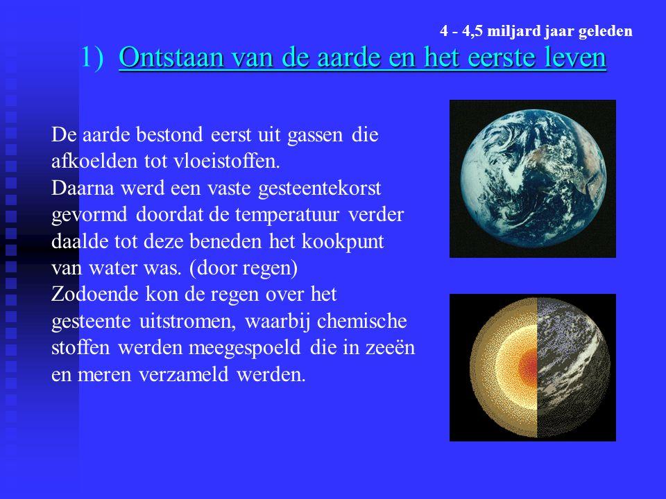 1) Ontstaan van de aarde en het eerste leven