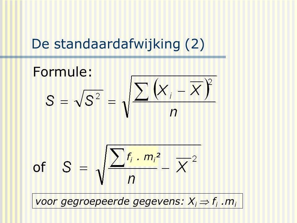 De standaardafwijking (2)