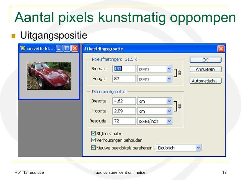 Aantal pixels kunstmatig oppompen