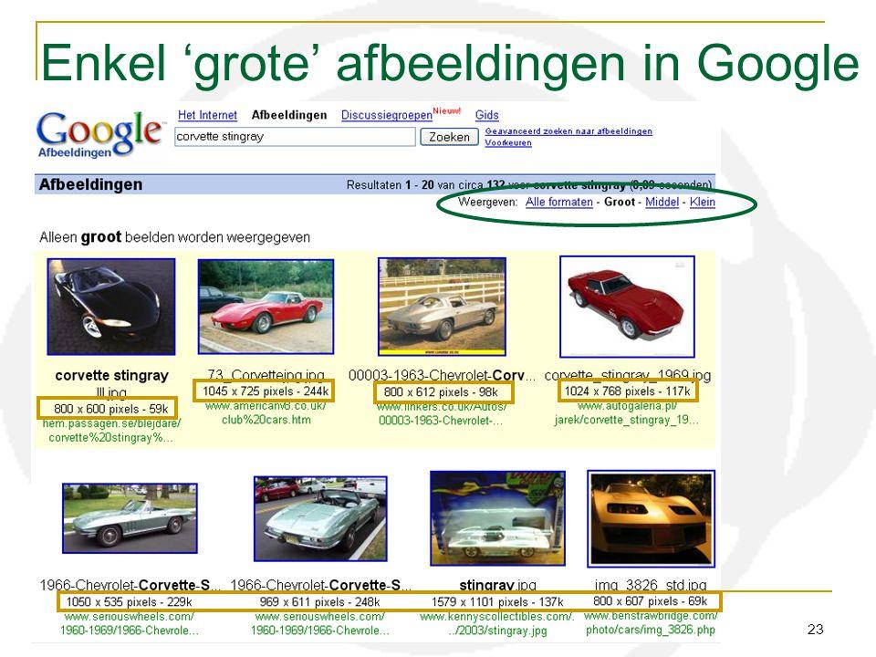 Enkel 'grote' afbeeldingen in Google