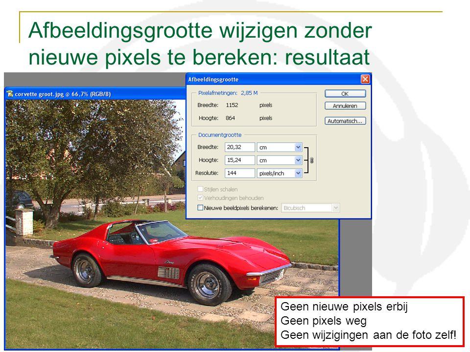 Afbeeldingsgrootte wijzigen zonder nieuwe pixels te bereken: resultaat