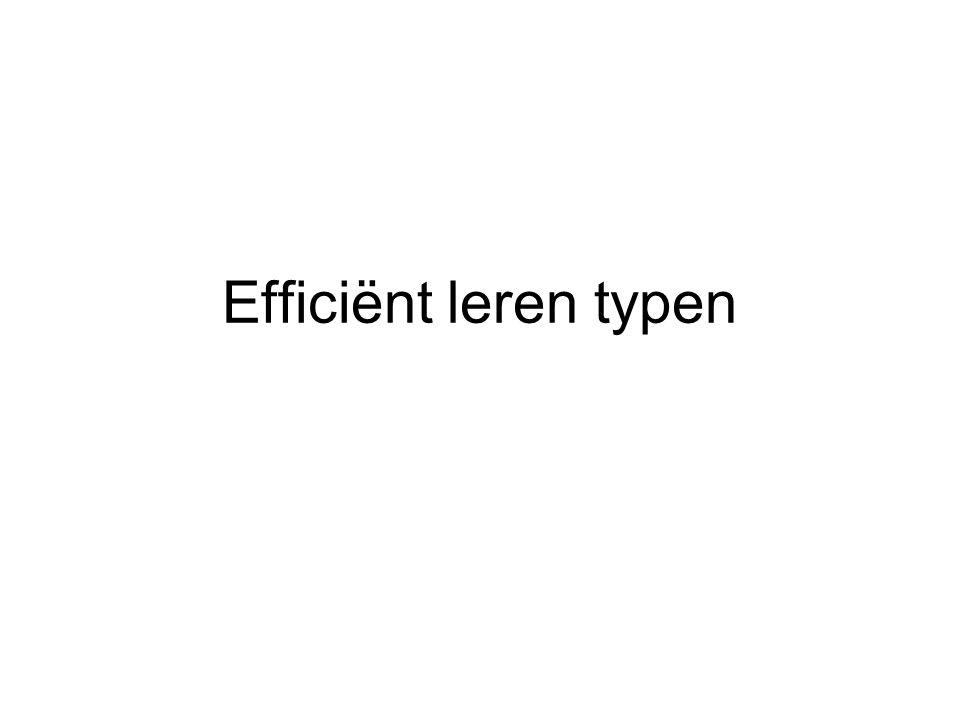 Efficiënt leren typen