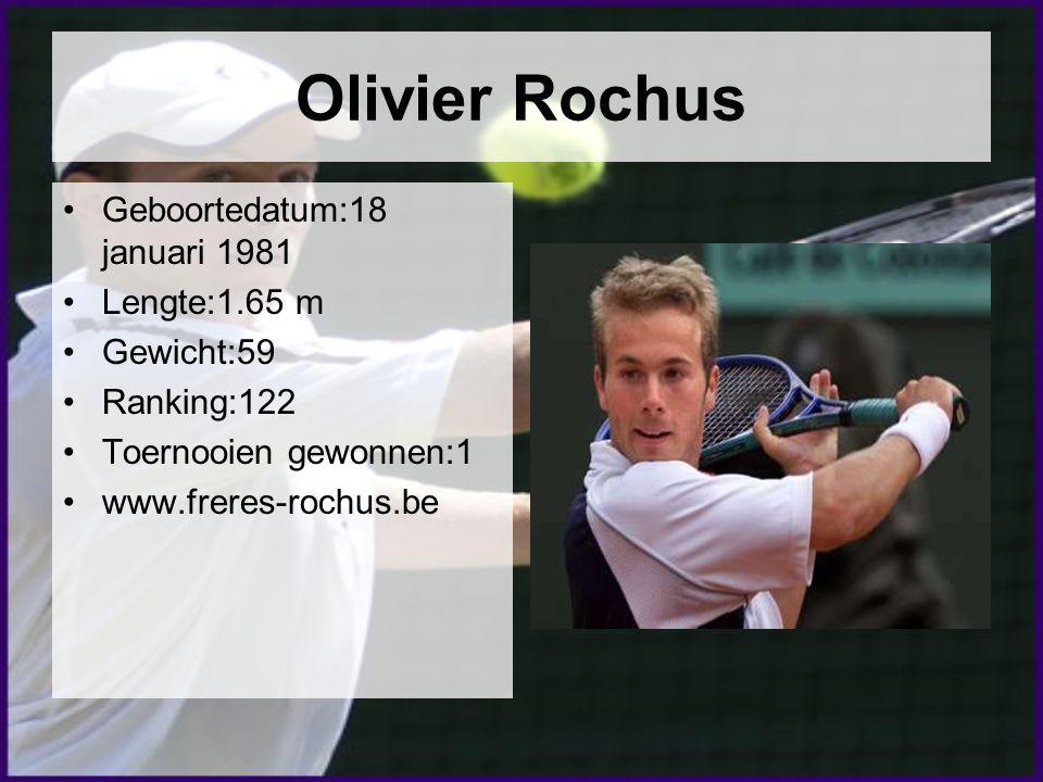 Olivier Rochus Geboortedatum:18 januari 1981 Lengte:1.65 m Gewicht:59