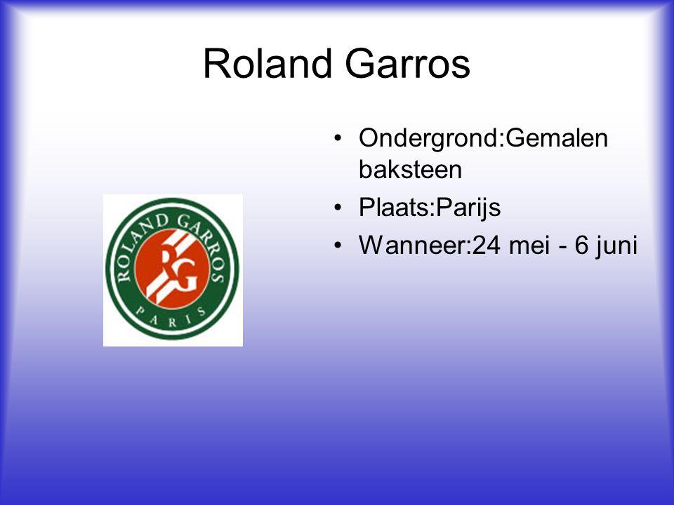 Roland Garros Ondergrond:Gemalen baksteen Plaats:Parijs