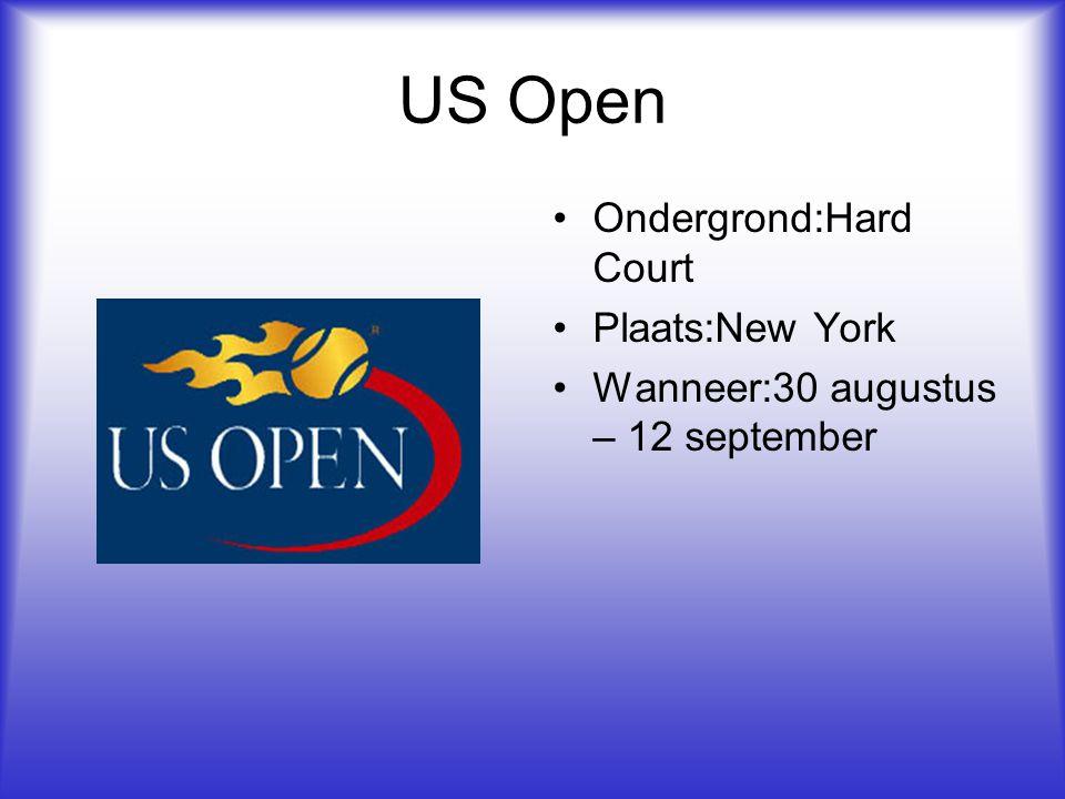 US Open Ondergrond:Hard Court Plaats:New York