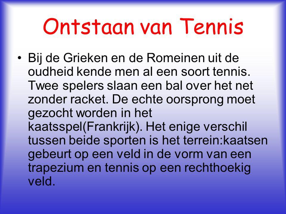 Ontstaan van Tennis