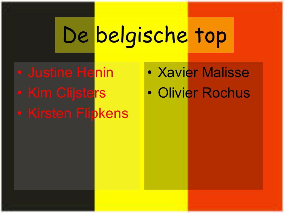 De belgische top Justine Henin Kim Clijsters Kirsten Flipkens