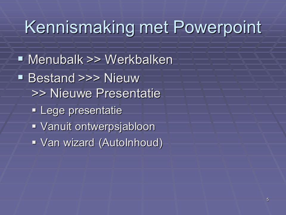 Kennismaking met Powerpoint