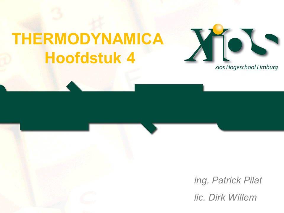 THERMODYNAMICA Hoofdstuk 4