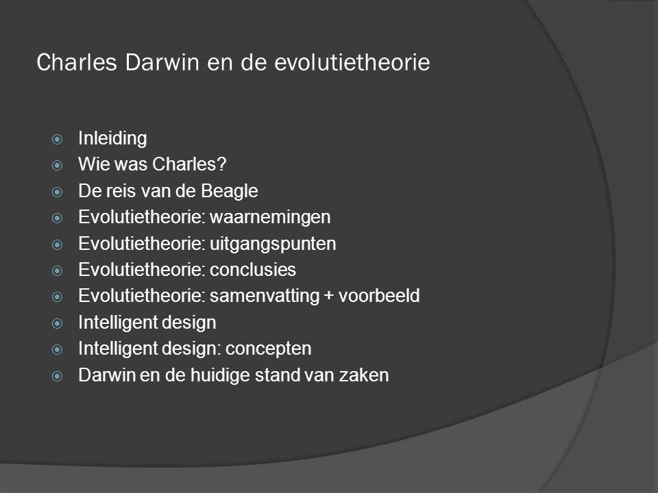 Charles Darwin en de evolutietheorie