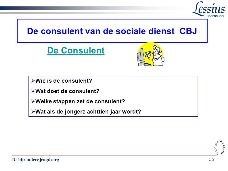 De consulent van de sociale dienst CBJ