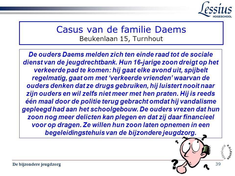 Casus van de familie Daems Beukenlaan 15, Turnhout