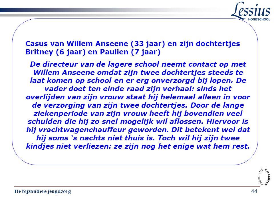 Casus van Willem Anseene (33 jaar) en zijn dochtertjes Britney (6 jaar) en Paulien (7 jaar)