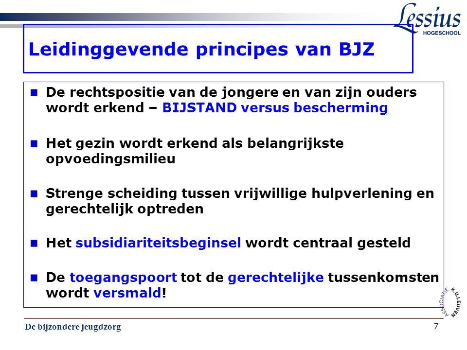 Leidinggevende principes van BJZ