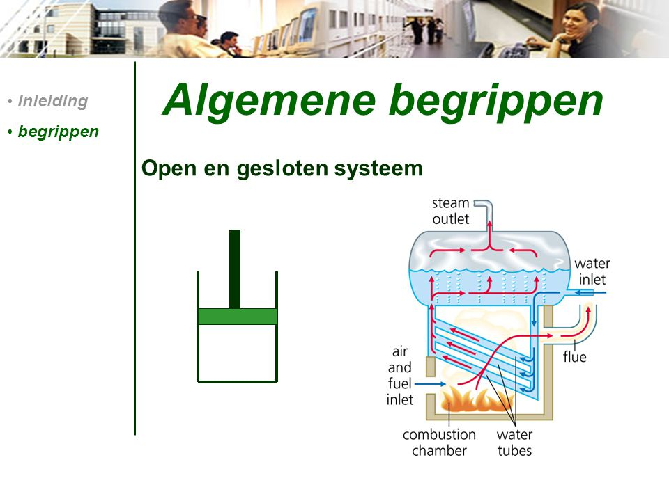 Algemene begrippen Inleiding begrippen Open en gesloten systeem