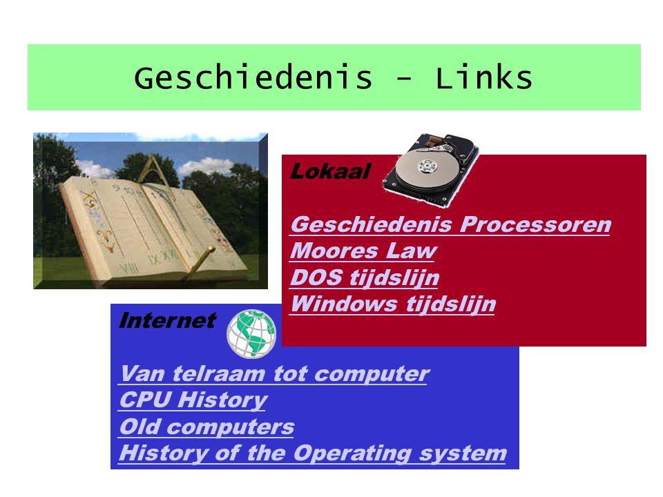 Geschiedenis - Links Lokaal Geschiedenis Processoren Moores Law