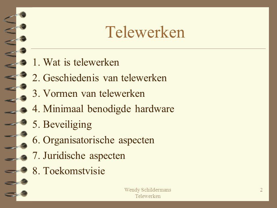 Wendy Schildermans Telewerken