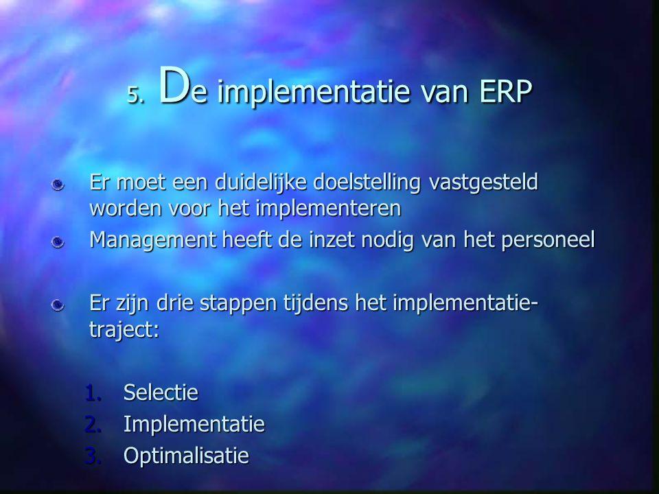 5. De implementatie van ERP