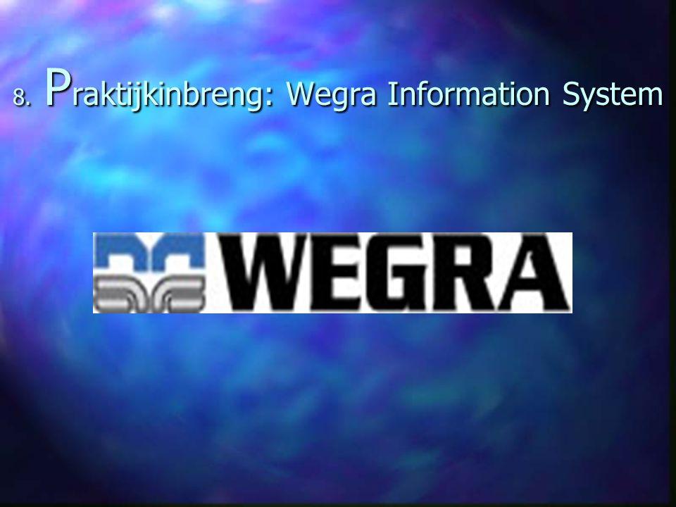 8. Praktijkinbreng: Wegra Information System