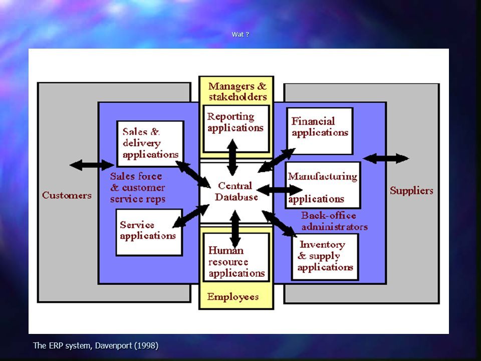 The ERP system, Davenport (1998)