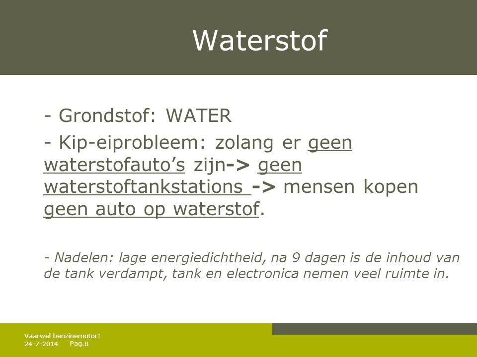 Waterstof - Grondstof: WATER
