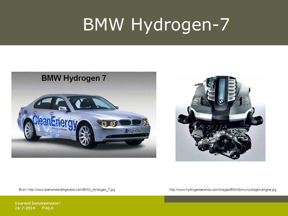 BMW Hydrogen-7 Vaarwel benzinemotor! 4-4-2017