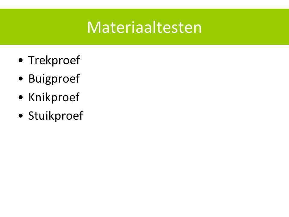 Materiaaltesten Trekproef Buigproef Knikproef Stuikproef