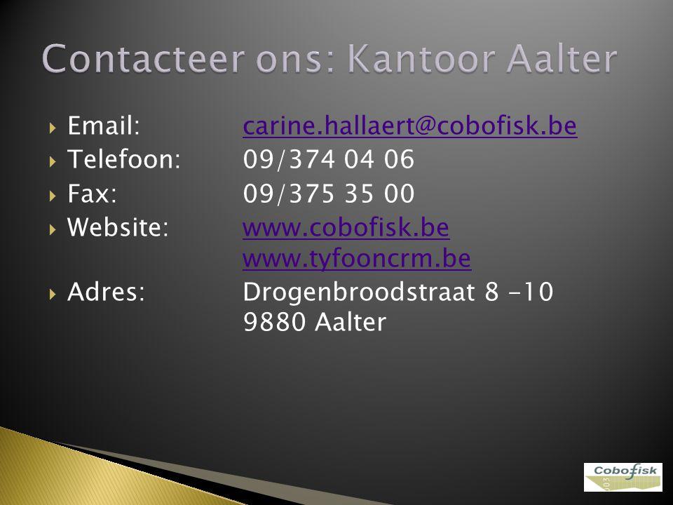 Contacteer ons: Kantoor Aalter