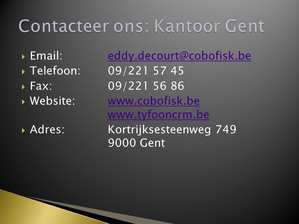 Contacteer ons: Kantoor Gent