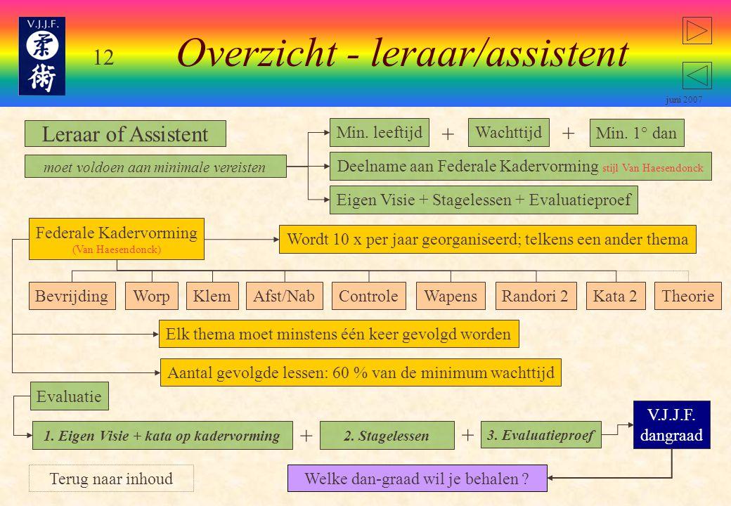 Overzicht - leraar/assistent