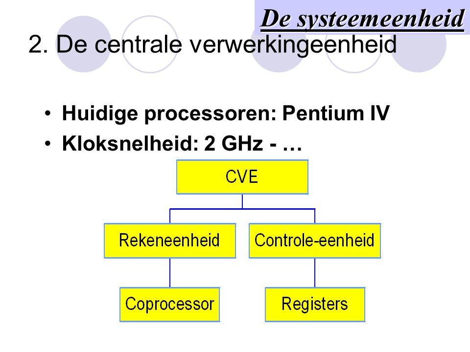 2. De centrale verwerkingeenheid