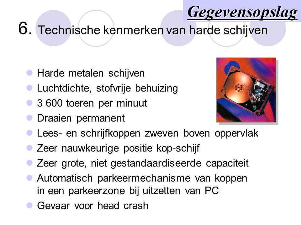 6. Technische kenmerken van harde schijven
