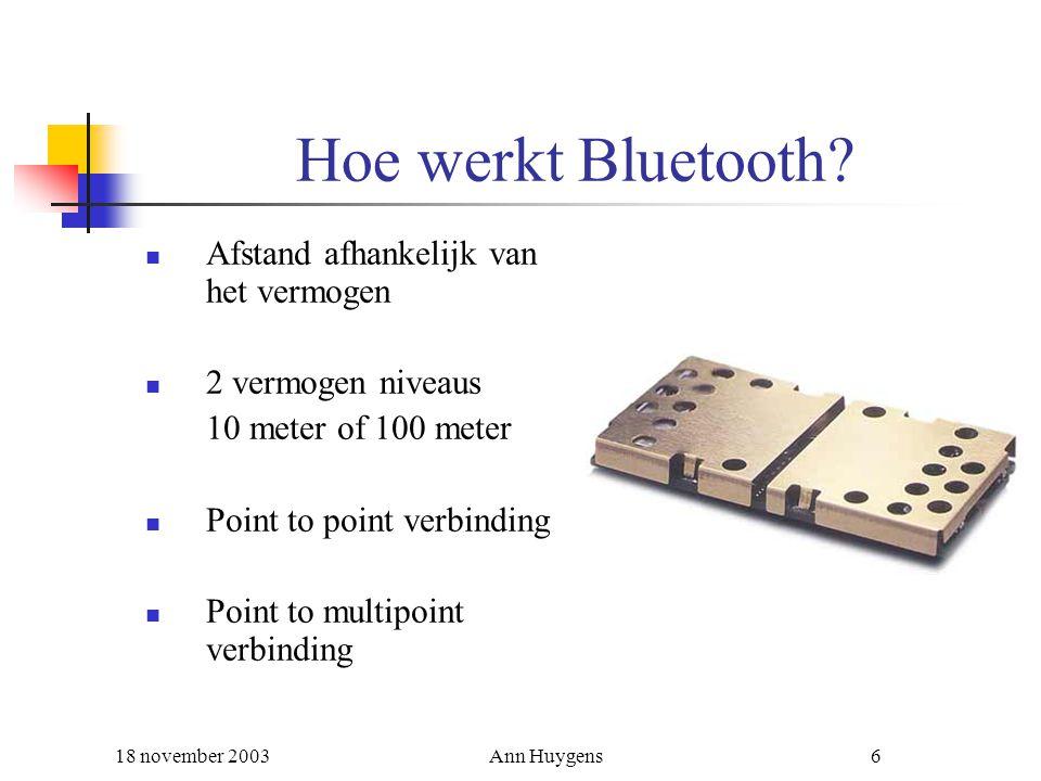 Hoe werkt Bluetooth Afstand afhankelijk van het vermogen