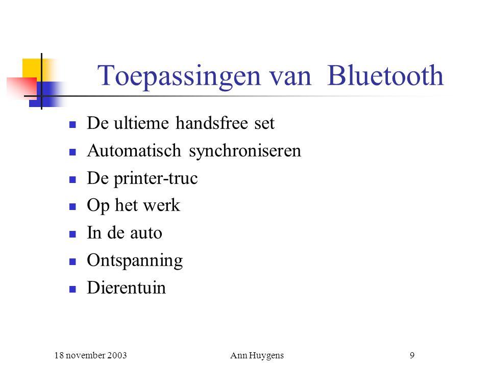 Toepassingen van Bluetooth