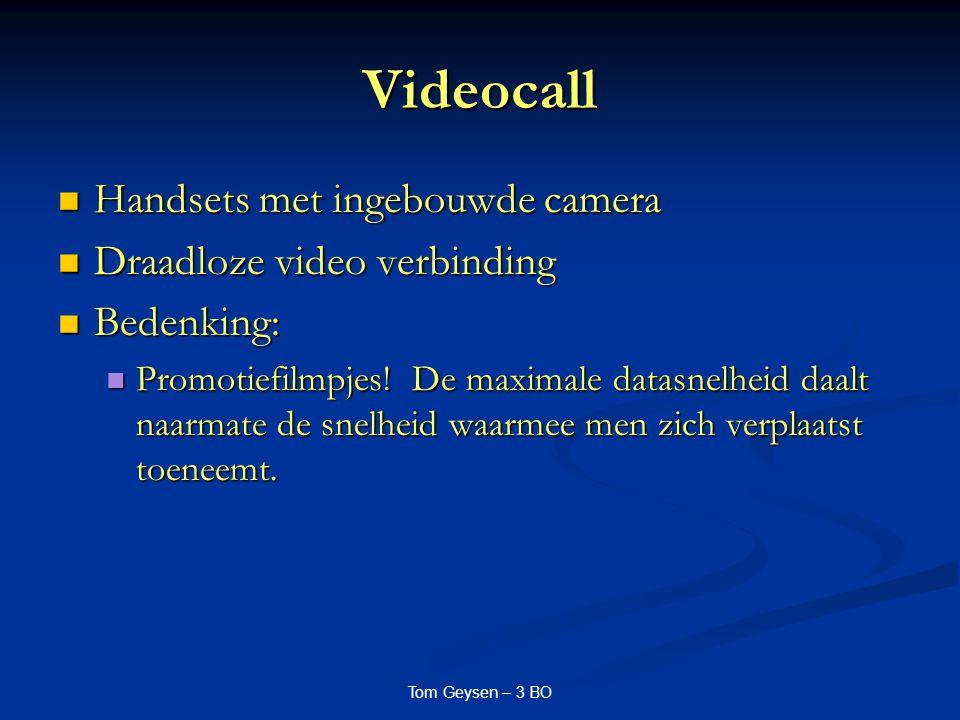 Videocall Handsets met ingebouwde camera Draadloze video verbinding