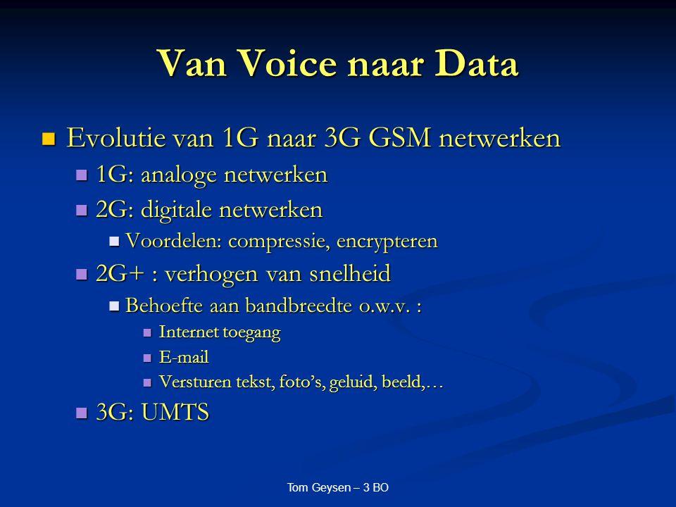 Van Voice naar Data Evolutie van 1G naar 3G GSM netwerken